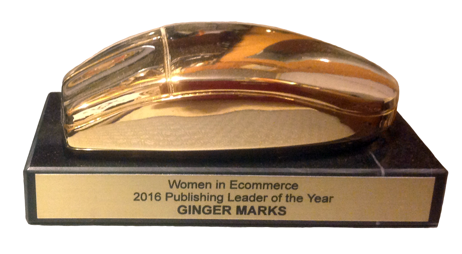 Women in Ecommerce, Publishing Leader of the Year Ginger Marks, 2016 Golden Mouse Award